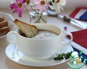 Рецепт Грибной суп-капучино с воздушной сливочной пенкой