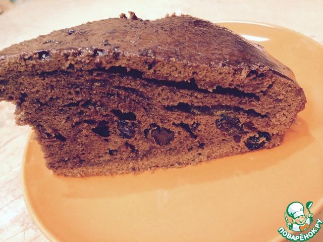 Шоколадный кекс с изюмом рецепт с фото пошагово