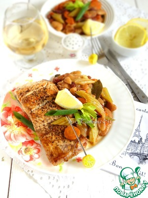 Рецепт Жареная семга с Кассуле