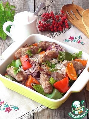 """Рецепт Рагу с рисом и мясными """"пальчиками"""""""