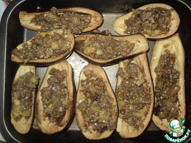 Лодочки из баклажан фаршированные рецепт