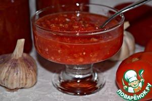 Рецепт Острая сырая аджика
