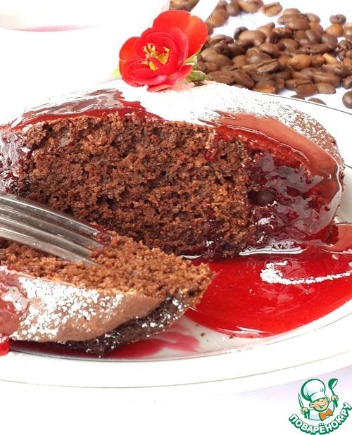 """Шоколадно-коньячные пирожные """"Гато"""" с соусом"""