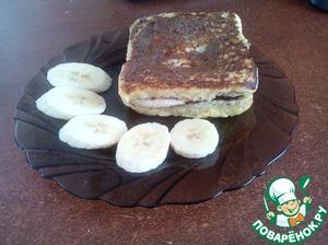 Рецепт Сэндвич с шоколадной пастой и бананом