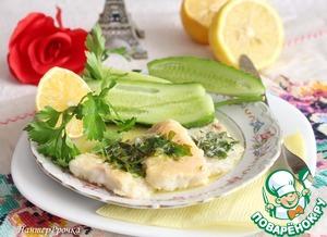 Рецепт Рыба под сливочно-лимонным соусом
