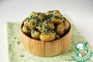 Рецепт Запеченный картофель с чесноком и мятой