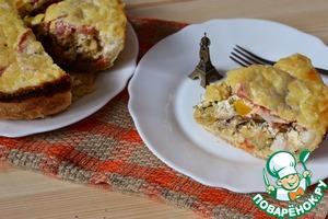 Рецепт Киш с овощами и курицей