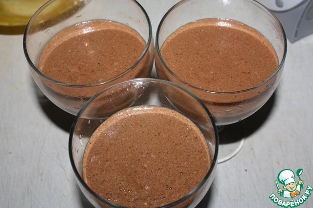Шоколадный мусс пошаговый рецепт с фото