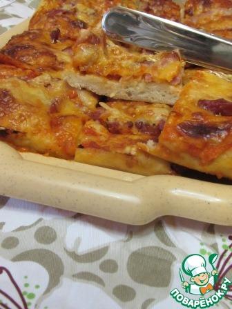 Вкусное тонкое тесто для пиццы рецепт без дрожжей пошагово 189