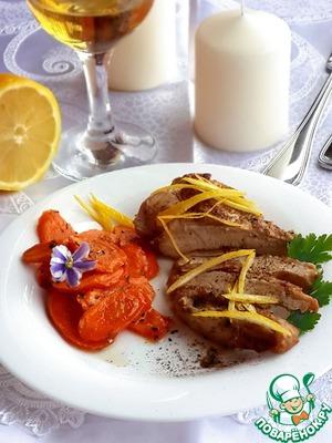 Рецепт Лимонная курица с глазированной морковью