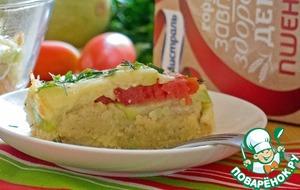Рецепт Запеканка из пшеничных хлопьев с овощами и сыром