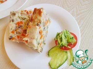 """Рецепт Картофельный """"хлеб"""" с овощами"""