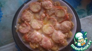 Рецепт Пицца на картофельной основе вместо теста в микроволновке