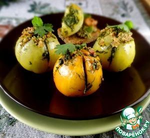 Рецепт Запеченные зеленые помидоры