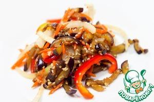 Рецепт Баклажаны по-корейски быстрого приготовления