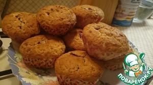 Рецепт Творожные кексы с малиной
