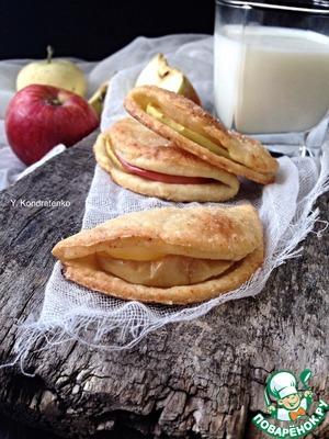 Рецепт Творожно-песочное печенье с яблоками