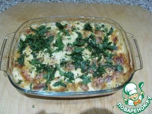 Рецепт Треска под сырно-сливочным соусом с яблоком