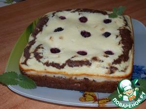 Рецепт Двухслойный пирог с творогом и ежевикой