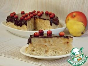 Рецепт Яблочно-грушевый пирог из микроволновки
