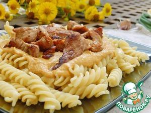 Рецепт Паста со свининой и овощным соусом