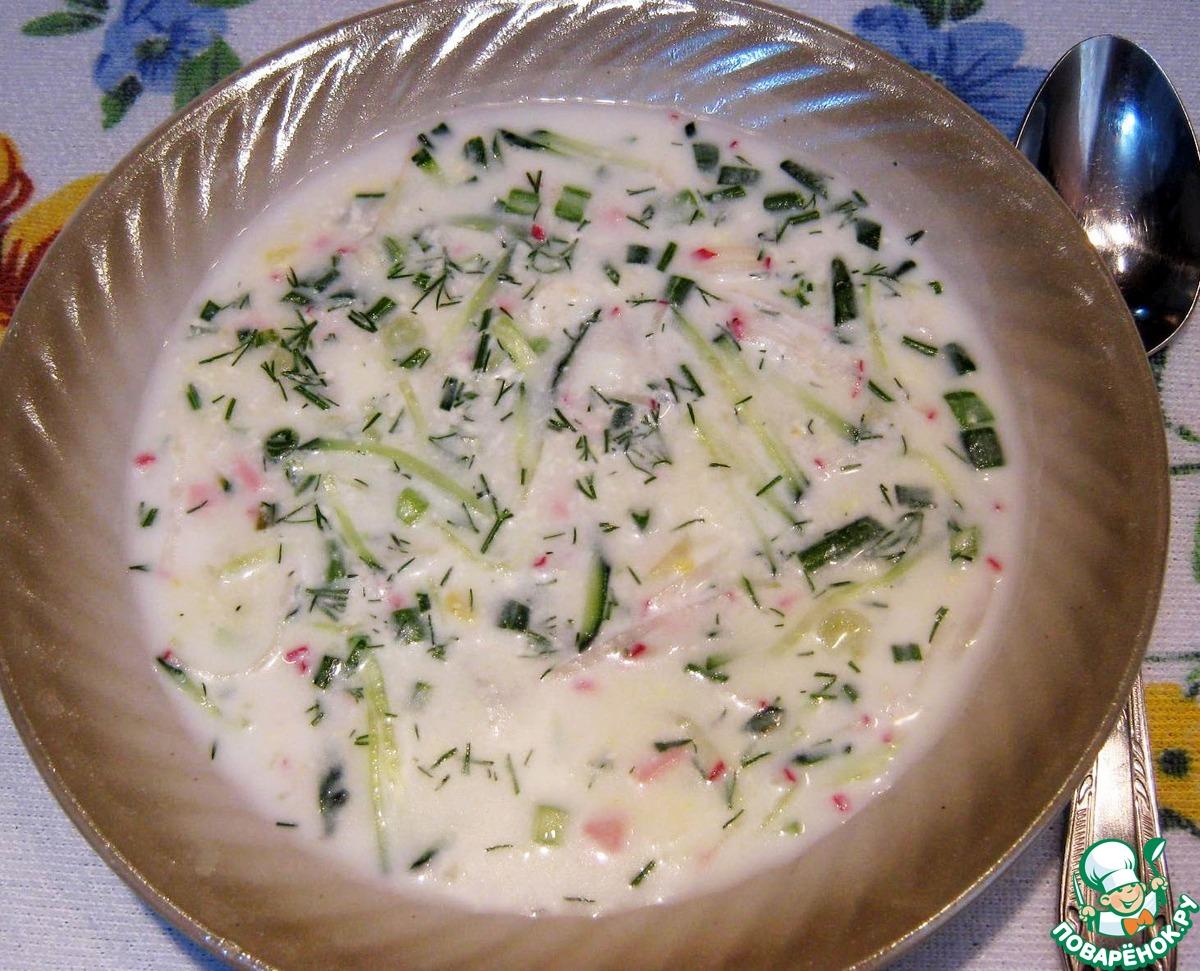 Окрошка рецепт на кефире и минеральной воде пошагово