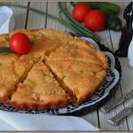 Капустный заливной пирог на майонезе