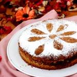 Ореховый пирог с лимонным конфи