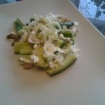 Весенний салат с вешенками