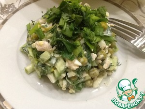 "Легкий салат ""Почти Оливье"""