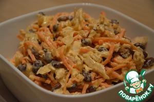 Куриный салат с морковью по-корейски