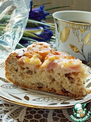 Рецепт: Постная шарлотка с яблоками