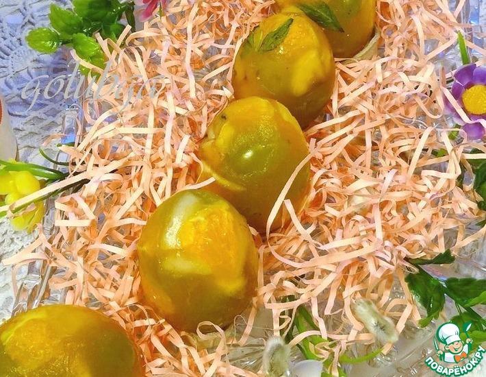 Красивое заливное из фруктов #10
