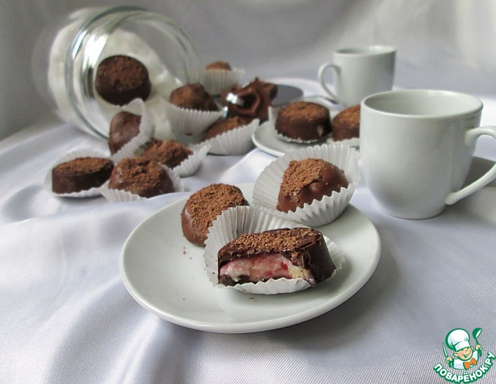 Конфеты с малиновым чизкейком – кулинарный рецепт