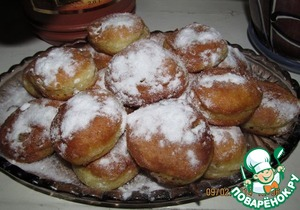 Рецепт Быстрые пончики для лентяек