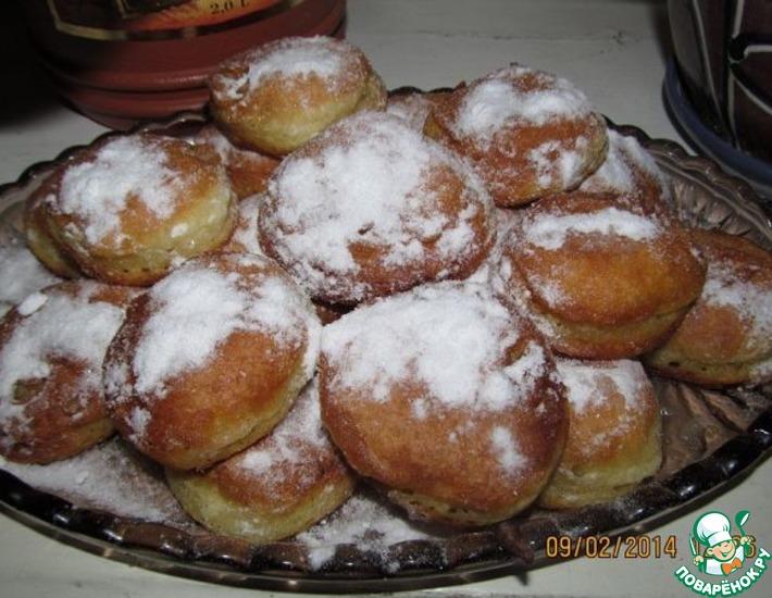 Рецепт: Быстрые пончики для лентяек