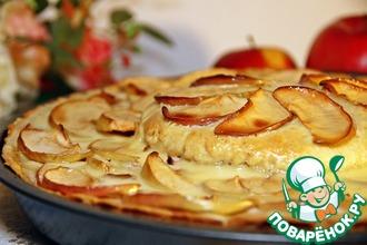 Рецепт: Двухэтажный французский яблочный торт