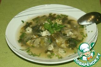 Рецепт: Суп с зелеными овощами и клецками
