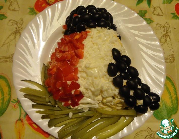 Рецепт: Салат Снегирь на ветке