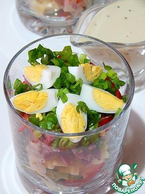 Салат Новогодний в огуречной заправке Рассол