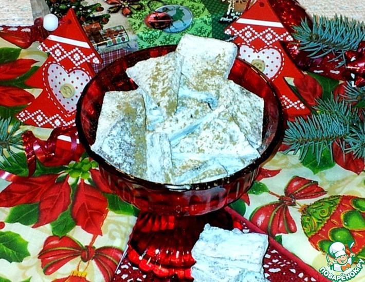 Рецепт: Жевательные конфеты из яблочной пастилы