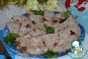 Ветчина с черносливом и грецкими орехами