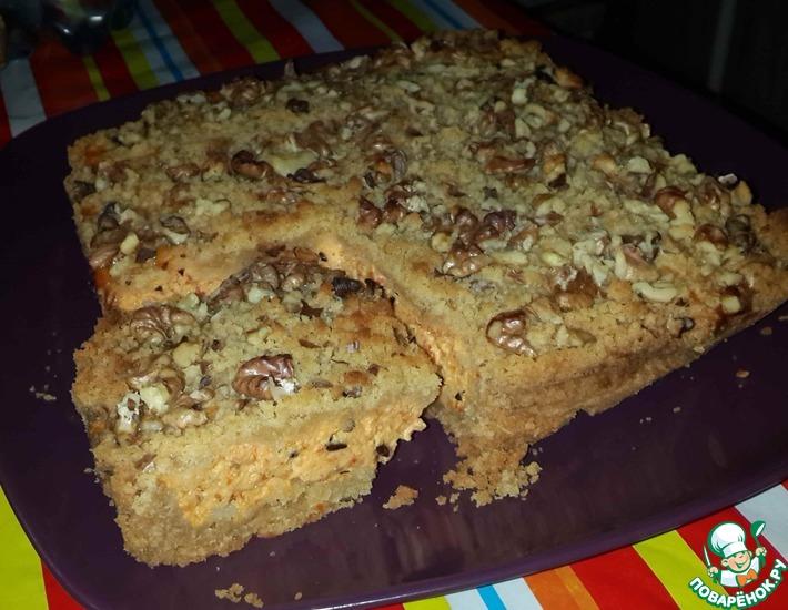 Рецепт: Творожный пирог Крошка