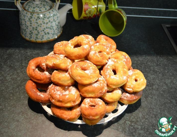 Рецепт: Пончики насгущенке
