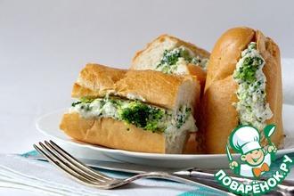 Рецепт: Сендвич с брокколи и соусом Морне