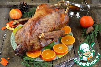 Рецепт: Гусь «Новогодний мандариновый»