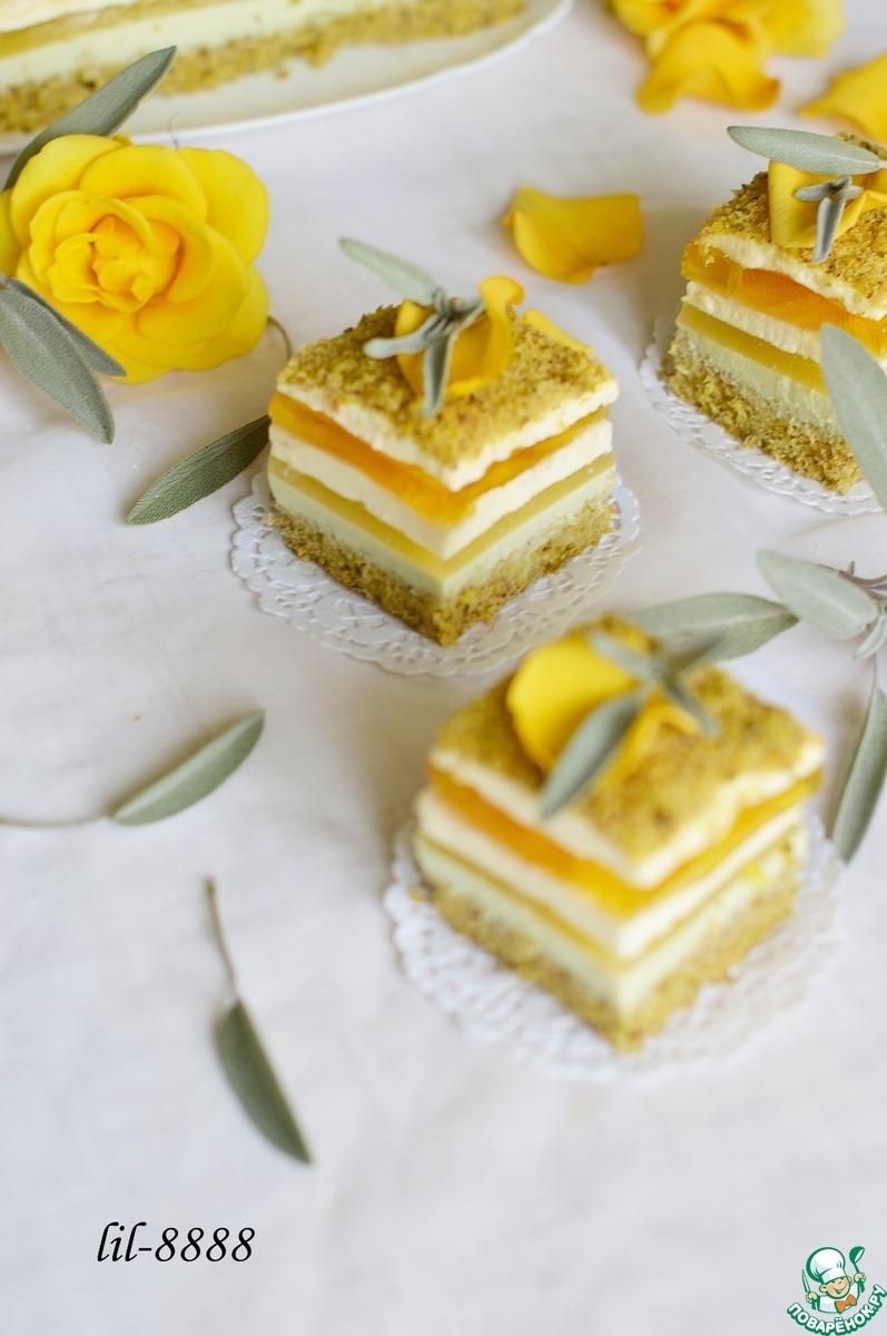 Французский торт с апельсином и шалфеем