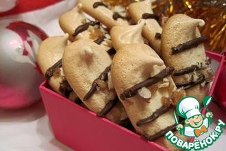 Рецепт: Печенье Безе с ореховым крокантом