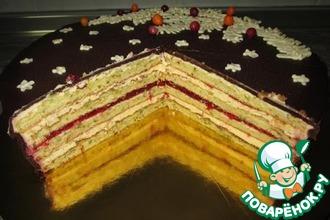 Рецепт: Фисташковый бисквит для торта