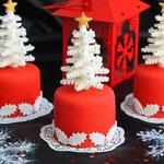 Новогодние пирожные Ёлочки